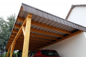 attached timber carport