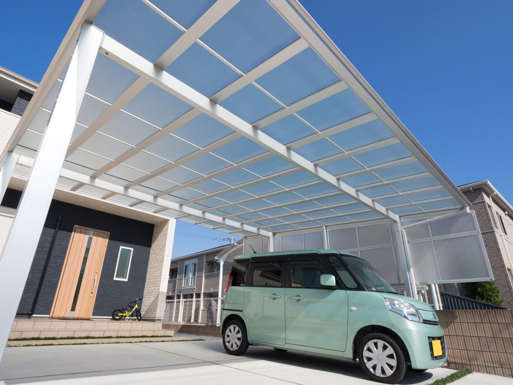 attached flat roof carport installation in sydney